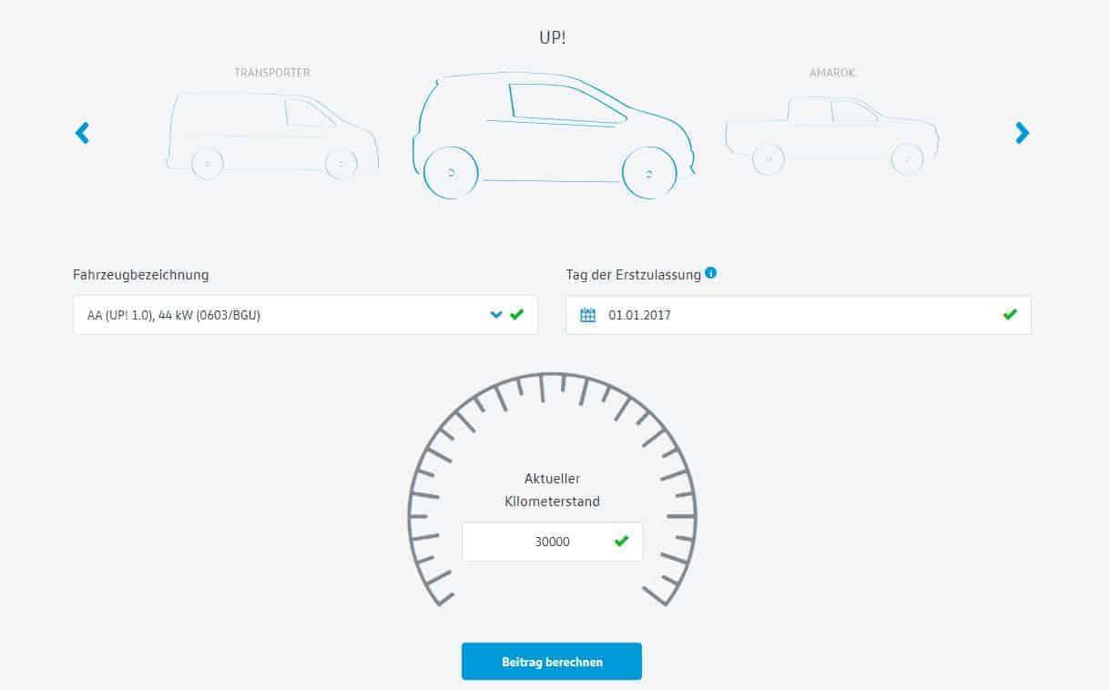 Autohaus Halstenberg - Garantieversicherung Beitrag berechnen
